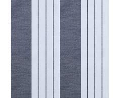 Top Finel Lot de 2 Rideaux Voilages Motif Rayures Lignes Géométriques à Oeillets 140x220cm pour Salon Chambre Gris