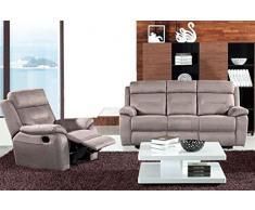 Canapé 3pl en tissus avec relax électrique coloris Reims