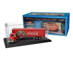 Pioneer Plastics - vitrine de voitures miniatures, acrylique, de bonne qualité, échelle 1/18, base noir, bord à angle droit