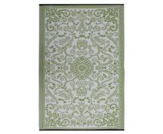 Fab Hab Intérieur / Tapis extérieur Murano - Vert & crème (120cm x 180cm)