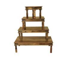 Table basse Opium en bois de shisham massif style Jali, 110 cm x 60 cm