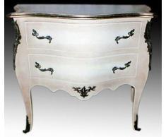 armoire baroque garde-robe commode blanche Louis XV MoCoC05802