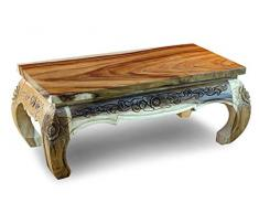 Kinaree PATHUMWAN Table Basse Opium, Bois, Naturel, 43x100x50cm