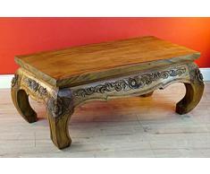 Kinaree PATHUMWAN Table Basse Opium, Bois, Colonial, 43x100x50cm