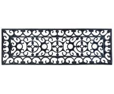 Esschert Design - paillasson tapis caoutchouc escalier - Noir - 74,5 cm x 25 cm x 1 cm
