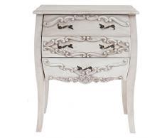 Commode Gela T439, armoire, baroque antique 70x58x41cm ~ blanc antique