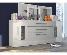 IDEAKIT 490126 Daiquiri Enfilade Mélamine Blanc 200 x 35 x 80 cm