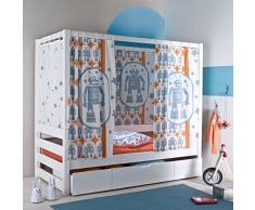 Lot 6 rideaux motif robot pur coton pour lit baldaquin 3SUISSES