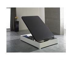 Générique Sommier Coffre tapissier 160x200cm Blanc Indo - L 200 x l 160 x H 34