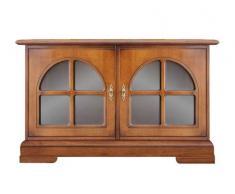 Buffet bas 2 portes vitrées