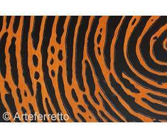 Arteferretto Meuble Buffet bahut Bas Longueur 200 cm Noir