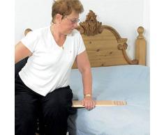 Homecraft, planche de transfert en bois, petite longueur, contreplaqué stratifié, vernie, transfert des fauteuils roulants vers lit, voiture, idéal pour les personnes âgées ou handicapées, 60 x 21 cm