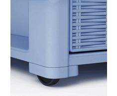 Commode avec roulettes et 4 tiroirs Effet osier modèle ELEGANCE DE LA Stefanplast couleur Taupe
