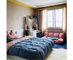 Anah Étage Canapé-lit Pliable Sleeper 4 Position Reclining canapé futon canapé avec Lazy 2 Divans Oreillers Salon Meubles (Abricot)