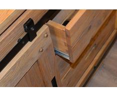 Enfilade industrielle portes coulissantes 'Lugano' Meuble House