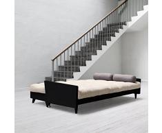 Karup - Indie, canapé lit : futon, cadre en bois naturel