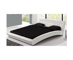 Concept Usine - Lit Chelsea - Cadre de lit en simili capitonné Blanc - 160x200cm