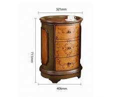 Chengzuoqing Table de Chevet Style Européen Et Américain Painted Coin Cabinet Canapé dangle côté Cabinet Armoire côté Enfilade Décoration de mobilier Moderne (Couleur : Marron, Taille : 40x52x71cm)