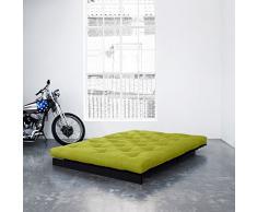 Karup - Roots 140 cm, canapé et lit futon, vert sur bois teinté Wengué