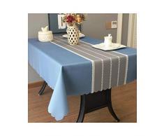 MWPO Nappe Rectangulaire Élégant Et Romantique Rectangulaire Convient pour Buffet Tables, Fêtes, Dîners, Mariages Imperméable Bleu Clair (Taille: 90cm * 130cm)