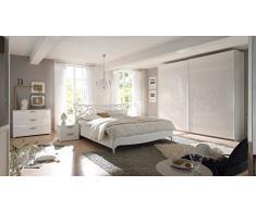 Matelpro-Commode design 3 tiroirs laquée blanche Estelle