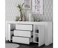 Kasalinea Enfilade 210 cm Design Blanc laqué Agathe