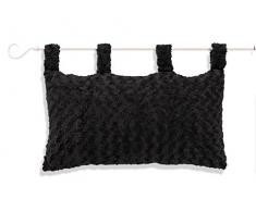 Soleil dOcre 900366 Alaska Linge pour Tête de Lit Polyester Noir 70 x 45 cm