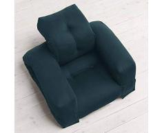 Hippo, Un Fauteuil et Aussi Un Sofa, Hyper malins Qui Se transforment en Un Confortable lit futon dappoint en Quelques Secondes - Fauteuil Hippo (Taille Adulte), Bleu pétrole (757) - 100% Coton
