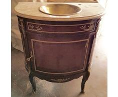 Buffet baroque commode de style antique en marbre de vanité style antique baroque Louis XV MkBa0029