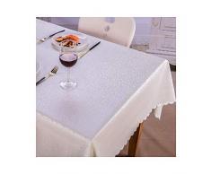 MWPO Nappe Rectangulaire Élégant Et Romantique Rectangulaire Convient pour Tables De Buffet, Fêtes, Dîners, Mariages, Etc. Argent Blanc (Taille: 90cm * 150cm)