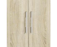 Matelpro-Commode 2 portes contemporaine chêne clair Vanina