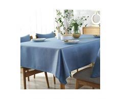 MWPO Nappe Solide Couleur Rectangulaire Élégante Et Romantique Rectangulaire Convient pour Buffet Tables, Fêtes, Dîners, Mariages Bleu Clair (Taille: 130cm * 180cm)