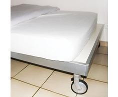MSV 140069 Protège Matelas Anti-Allergies pour 1 Personne Polypropylène Blanc 190 x 90 x 1 cm