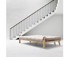 Karup - Poésie, canapé lit : futon, cadre en bois naturel