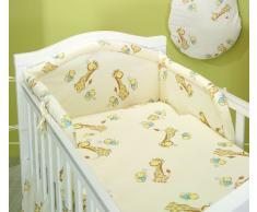 Blueberry Shop Ensemble de linge de lit pour bébé comprenant une housse de couette et une taie d'oreiller 90 x 120 cm