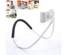 Ecoolbuy universel 360 Rotation flexible téléphone portable tablette Selfie support de cou serpent de voiture Lit support de fixation pour iPad pour iPhone pour Samsung (cou Stand-1)