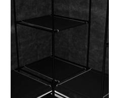 vidaXL Garde-Robe d'angle Penderie Armoire de Rangement Stockage Vêtements Meuble de Rangement Organisateur Chambre à Coucher Chaussures Noir