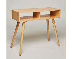 Table console/coiffeuse/bureau en bois ? Pin massif ? 90 x 35 x 78 cm, buffet design scandinave moderne Look rétro