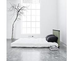 TATAMI BED Sano : le tatami, le futon, et les 2 coussins - une affaire ! déco et design - : FUTON : Natural (140 x 200 cm) - : 2 Coussins Bleu
