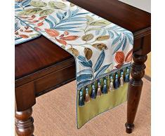 LYYJIAJU Américaine Table Drapeau Chaussure Cabinet Couverture rectangulaire moderne Minimaliste Accueil Nordic Enfilade Tissu Serviette Nappe poussière Couverture (Size : 34x180cm)