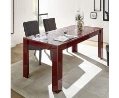 NOUVOMEUBLE Salle à Manger Enfilade + Table Design Rouge laqué Paolo 2