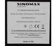 Lit capitonné design Lit en simili cuir 180 x 200 cm Surface de couchage Sino Max Xora Chambre Lit Double