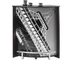 Simmob VISIO096NO751 Tour Eiffel 750 751 Meuble Comptoir Bar Bois Noir 44,9 x 96,7 x 104,8 cm