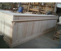 Grand comptoir bar sur mesure en pin massif naturel - 4m50x1.00m