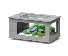 ZOLUX-AQUA TABLE- AQUARIUM LED 130X75 FRENE /GRIS