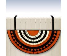 Table de balcon tablette suspendue 76 x 40cm en mosaique motif Roman Sun
