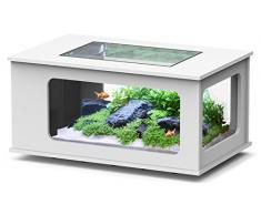 Aquarium table LED 130X75 cm blanc