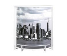 Simmob VISIO096BL508 Manhattan 508 Meuble Comptoir/Bar Bois Blanc 44,9 x 96,7 x 104,8 cm