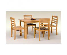 JUSThome Table de salle ? manger Calvin en Bois Aulne(LxlxH): 120/75/75 cm