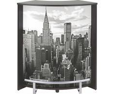 Simmob VISIO096NO500 New York Meuble Bar Comptoir Noir 44,9 x 96,7 x 104,8 cm